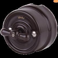 Выключатель керамический коричневый поворотный 2-клавишный Werkel
