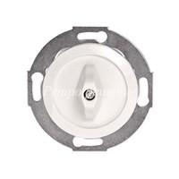 Одноклавишный выключатель (переключатель) поворотный белый