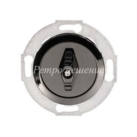 Одноклавишный выключатель (переключатель) поворотный чёрный