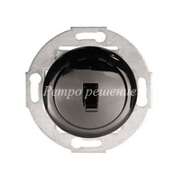 Однорычажковый выключатель (переключатель) на 2 направления чёрный