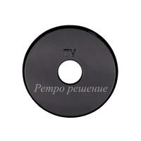 Накладка розетки TV (черный)