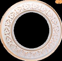 Рамка керамическая Antik Runda белое золото 1 пост Werkel