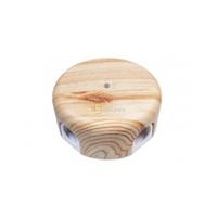Коробка распределительная Bironi D78 мм, пластик цвет карельская сосна