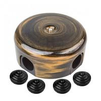 Коробка распределительная Bironi D78 мм пластик, цвет бронза