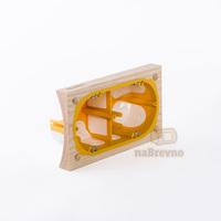Герметичный подрозетник с подложкой на бревно 260 мм, двухместный