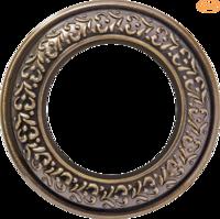 Рамка керамическая Antik Runda бронза 1 пост Werkel