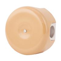 Керамическая распределительная коробка Lindas малая (D - 78мм) тёмно-персиковая