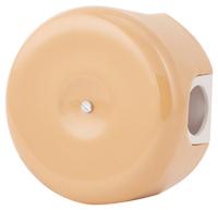 Керамическая распределительная коробка Lindas (D - 90мм) тёмно-персиковая