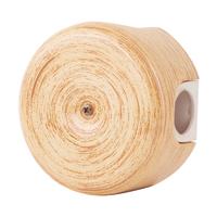 Керамическая распределительная коробка Lindas малая (D - 78мм) кедр