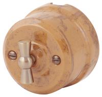 Выключатель поворотный двухклавишный Lindas капучино