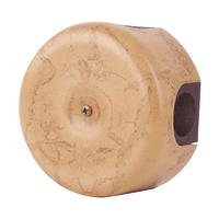 Керамическая распределительная коробка Lindas малая (D - 78мм) капучино
