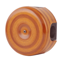 Керамическая распределительная коробка Lindas малая (D - 78мм) орех