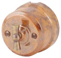 Выключатель поворотный двухклавишный Lindas гефест