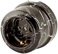 Керамическая ретро розетка Lindas 220В чёрный камень