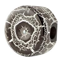 Керамическая распределительная коробка Lindas малая (D - 78мм) чёрный камень