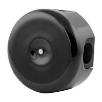 Керамическая распределительная коробка Lindas малая (D - 78мм) черная