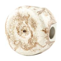 Керамическая распределительная коробка Lindas малая (D - 78мм) мрамор