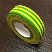 Изолента ПВХ пламягасящая желто-зеленая