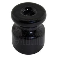 Изолятор чёрный фарфоровый