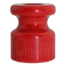 Изолятор красный фарфоровый