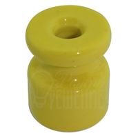 Изолятор жёлтый фарфоровый