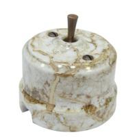 Выключатель тумблерный проходной одноклавишный Lindas мрамор