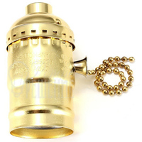 Патрон HolderLamp vintage золото с выключателем цепь