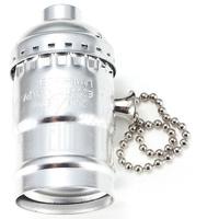 Патрон HolderLamp vintage серебро с выключателем цепь
