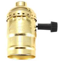 Патрон HolderLamp vintage золото с выключателем ручка