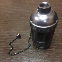 Комплект из 5 патронов  HolderLamp vintage чёрный жемчуг с выключателем цепь