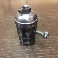 Комплект из 5 патронов  HolderLamp vintage чёрный жемчуг с выключателем ручка