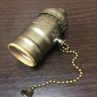 Комплект из 5 патронов HolderLamp vintage античная латунь с выключателем цепь