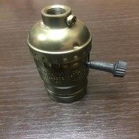 Комплект из 5 патронов HolderLamp vintage античная латунь с выключателем ручка