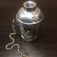 Комплект из 5 патронов  HolderLamp vintage серебро с выключателем цепь