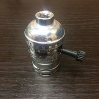Комплект из 5 патронов  HolderLamp vintage серебро с выключателем ручка