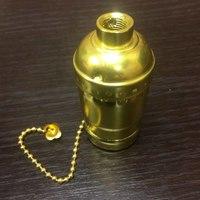Комплект из 5 патронов  HolderLamp vintage золото с выключателем цепь