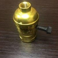 Комплект из 5 патронов  HolderLamp vintage золото с выключателем ручка