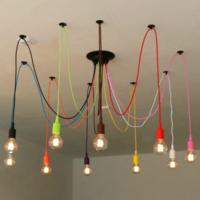 Светильник Паук на десять ламп (цветной)