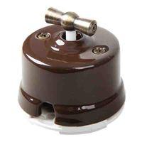 4-х позиционный выключатель коричневый