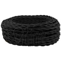 Провод витой 2х1,5мм2 чёрный