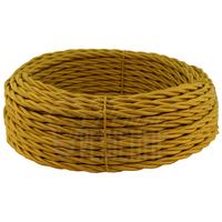 Провод витой 3х2,5 мм2 песочное золото