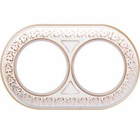 Рамка керамическая Antik Runda белое золото 2 поста Werkel