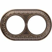 Рамка керамическая Antik Runda бронза 2 поста Werkel