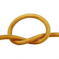 Провод круглый в оплетке песочное золото