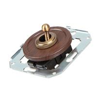 Тумблерный 2-х позиционный выключатель проходной, венге