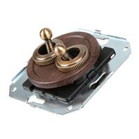 Тумблерный 4-х позиционный выключатель проходной, венге