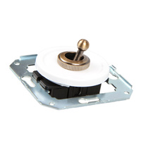 Тумблерный 2-х позиционный выключатель проходной, белый