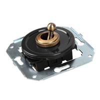 Тумблерный 2-х позиционный выключатель проходной, черный