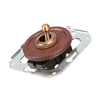 Тумблерный 2-х позиционный выключатель для проходной, вишня