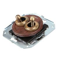 Тумблерный 4-х позиционный выключатель проходной, вишня